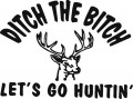 Lets Go Hunting Die Cut Decal.