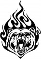 Tribal Bear Sticker Decals 26