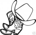 Boots and Hat Western Decal