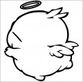 Moshimaro Angel Cartoon Decal