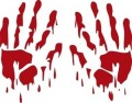 Zombie Blood Hands Wall Decal