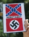 confederate flag nazi HERITAGE sticker