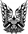 Tribal Eagle Stickers 15