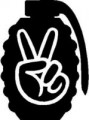 Peace Gernade 2 Diecut Decal