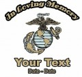Marines Memory Decal