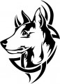 Tribal Wolf Sticker 47