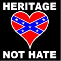 Heritage Not Hate Flag Sticker 77