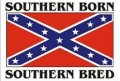 southern born southern bred confederate flag sticker