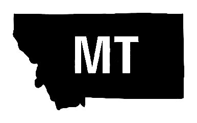 Mt Us State Shape Vinyl Decal Us State Silhouette Decal