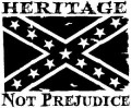 rebel flag heritage die cut decal