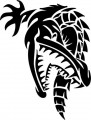 Tribal Alligator Decal Stickers 03