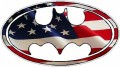 Batman Oval USA Flag Wall Sticker