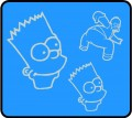 Simpsons Bart and Homer Wall Graphic Kit