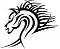 Tribal Horse Stickers 2