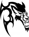 Tribal Wolf Sticker 18