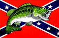trout with rebel flag sticker 33