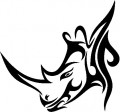 Tribal Rhino Stickers 3