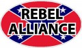 confederate flag oval REBEL ALLIANCE decal