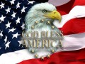 American Patriotic God Bless America Sticker