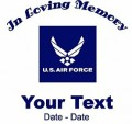 Air Force Memory Decal