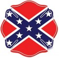 Firefighter confederate flag maltese cross decal