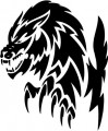 Tribal Wolf Sticker 14