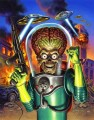 Mars Attacks Alien Car Sticker 1