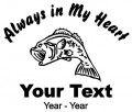 Fisherman Always in My Heart Decals