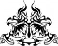 Tribal Eagle Stickers 14