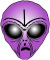Alien Head Sticker 8