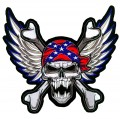 01 WINGED REBEL SKULL AND CROSSBONES STICKER