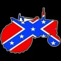 redneck confederate flag tractor decal