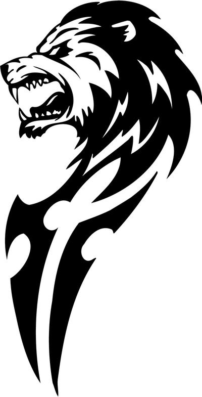Tribal Lion Stickers 10 Tribal Animals Decal Tribal