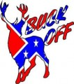 BUCK OFF REBEL FLAG STICKER