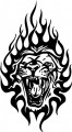 Tribal Lion Stickers 22