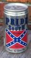 pride of the south reble beer can shaped sticker