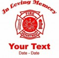 Firefighter Memory Decal
