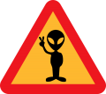 Alien Warning for Aliens Vinyl Sticker