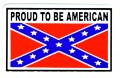 proud to be american confederate flag sticker