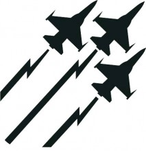 Three Jets Airforce Decal Custom Wall Graphics