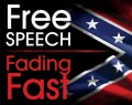 free speech fading fast sticker