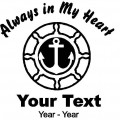 Boater Always in My Heart Decals