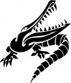 Tribal Alligator Decal Stickers 01