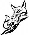 Tribal Wolf Sticker 29