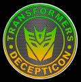 1 BADGE DECAL Carbon Fiber Decepticon
