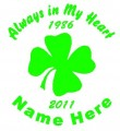 Irish Circle Memory Decals