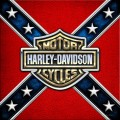 harley davidson and rebel flag sticker