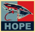 Hope Fishing Sticker