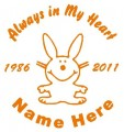 Girl Happy Bunny Circle Memory Decals