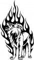 Tribal Lion Stickers 20